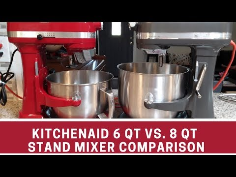 Comparison Of Kitchenaid Professional 6 Qt Vs Commercial 8