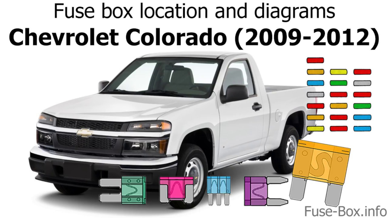 Fuse box location and diagrams: Chevrolet Colorado (2009-2012) - YouTube