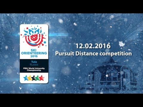 Pursuit competition - 1st World Ski Orienteering University Championship 2016 in Tula - Russia
