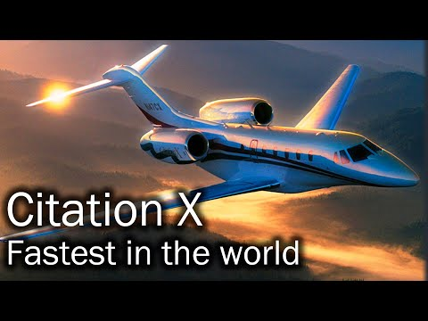 Cessna Citation X - the fastest civilian plane in the world