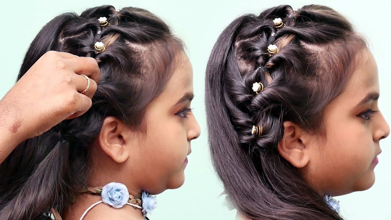 QUICK and EASY Everyday hairstyle with trick 🌺 Hairstyles for little girls  🌺 Baby hairstyles