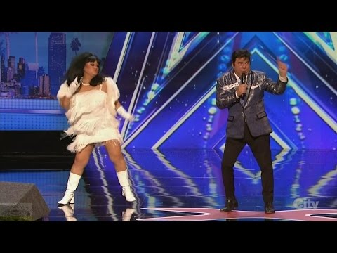 America's Got Talent 2016 Charles & Rose Horrible but Hilarious Vegas Show Full Audition Clip S11E01