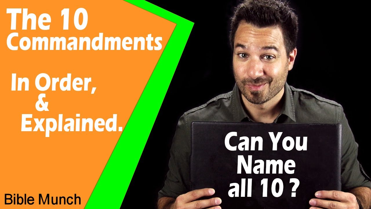 the 10 commandments list | what are the ten commandments in the