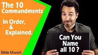 The 10 Commandments List | What are the Ten Commandments in the Bible