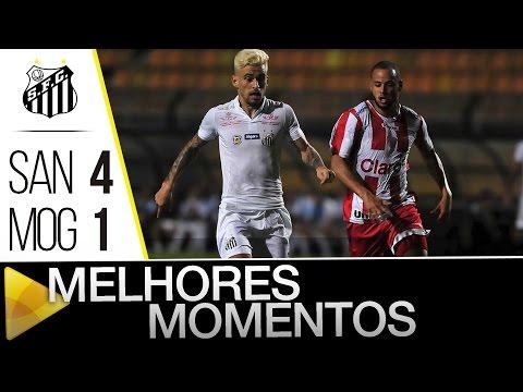 Santos 4 x 1 Mogi Mirim | MELHORES MOMENTOS | Paulistão (26/02/16)