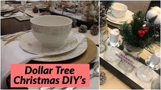 $5 Dollar Tree Christmas Centrepiece/ DIY Dollar Tree Christmas Tablescape