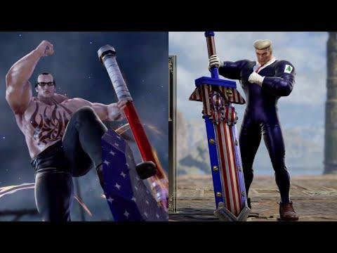 Soulcalibur VI Trump (The Donald) Vs Senator Armstrong (Metal Gear) Character Creation Matches  