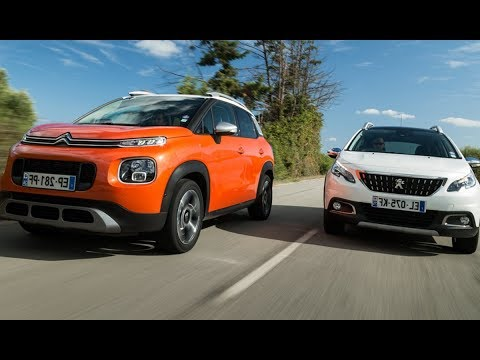 citro n c3 aircross vs peugeot 2008 essai comparatif 2018 youtube. Black Bedroom Furniture Sets. Home Design Ideas