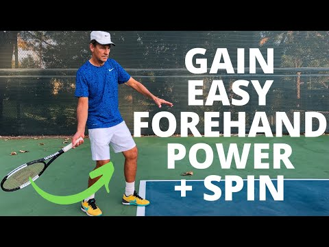 Forehand Tennis Lesson: How To Gain Easy Forehand Power And Spin