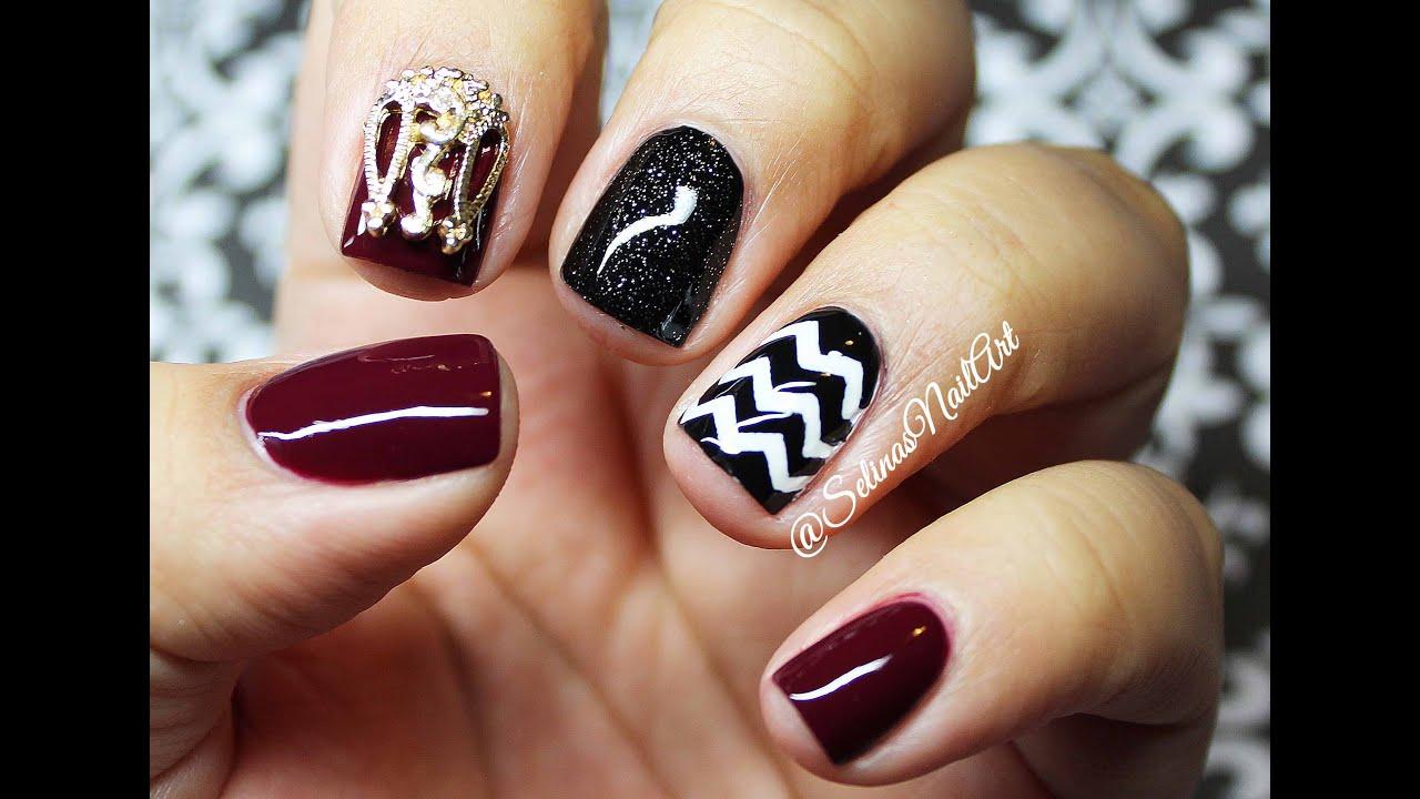 Simple Fall Nails | Madam Glam Polishes - YouTube