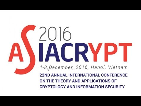 ASIACRYPT 2016 - Wednesday, December 7