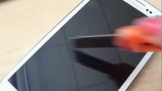 Samsung Galaxy SIII - Screen Scratch Test - Gorilla Glass 2
