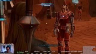 7:40 Star Wars: The Old Republic 1-10 LegacyLess Speedrun (2.5x Exp Event)