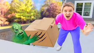 POND MONSTER vs GRACE SHARER BATTLE ROYALE for TOP SECRET MYSTERY EVIDENCE BOX!!
