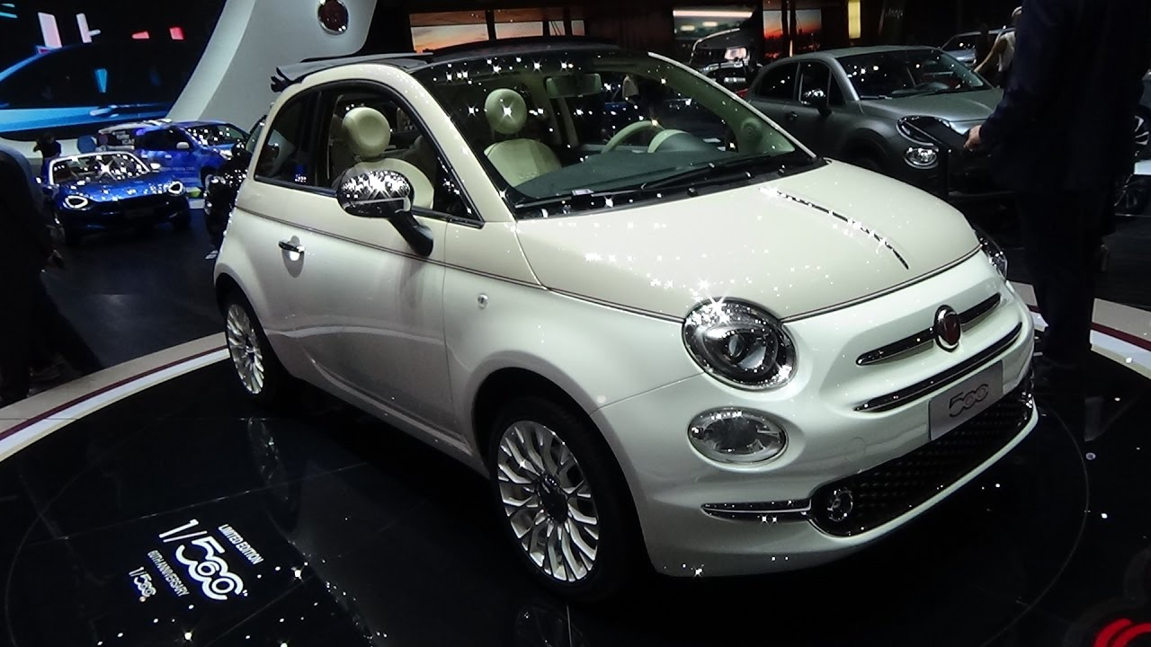 2017 fiat 500 60th anniversary limited edition exterior and interior geneva motor show 2017. Black Bedroom Furniture Sets. Home Design Ideas