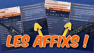 WHAT IS AN AFFIX WHICH SELECT FORTNITE SAVE THE WORLD