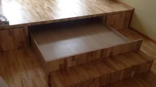 видео Детская кровать с ящиками для хранения: удобный вариант экономии