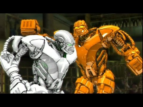 REAL STEEL-GOLD ZEUS vs WHITE ZEUS(new colors of robots)(ЖИВАЯ СТАЛЬ)-XBOX 360/PS3