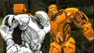 REAL STEEL-GOLD ZEUS vs WHITE ZEUS(new colors of robots)(ЖИВАЯ СТАЛЬ)-XBOX 360/PS3