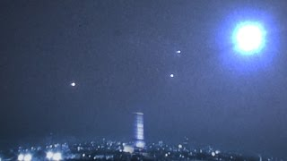 Massive UFO Formation over Paris! Amazing Night Vision UFO Activity, Oct 2014