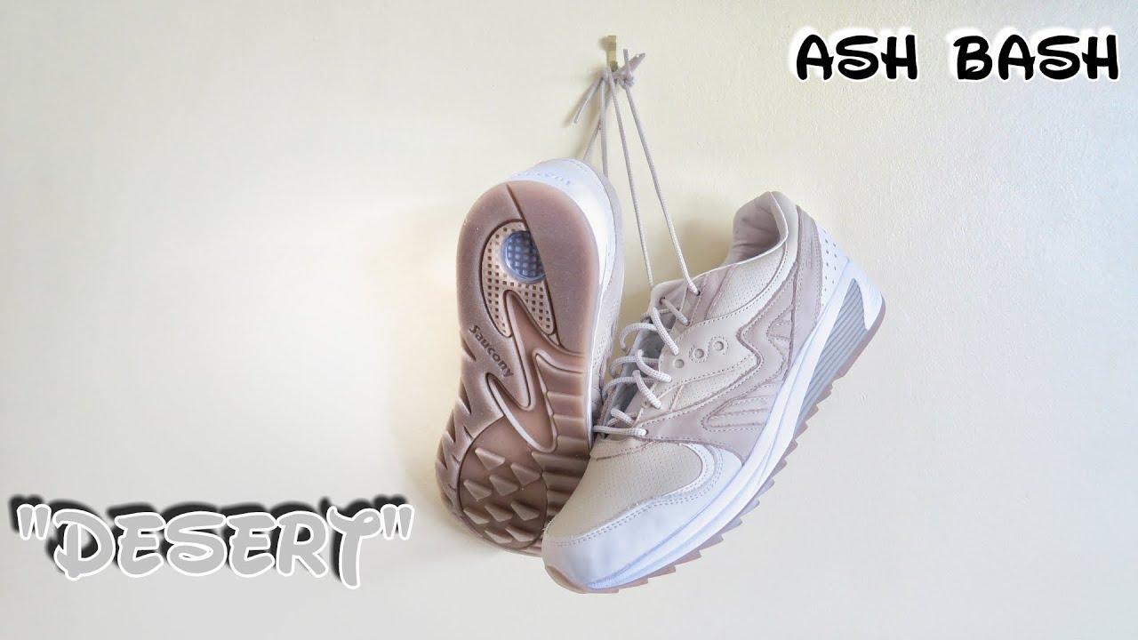 a84805cb Saucony GRID 8000 | Desert | On Feet | Ash Bash - YouTube