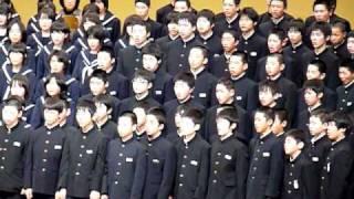 青葉の歌(混声三部合唱) ‐ 旧・岐阜県瑞浪市立稲津中学校全校