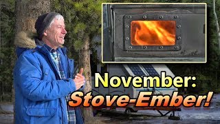 November Stove-Ember! More Wiฑter Camping in an A-Frame