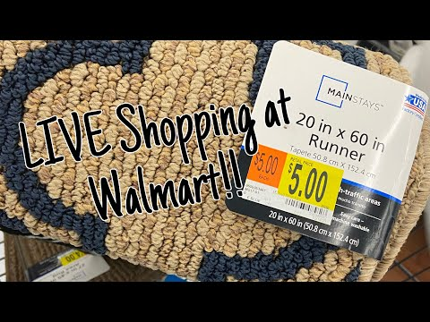 Come LIVE Shop With Me At Walmart