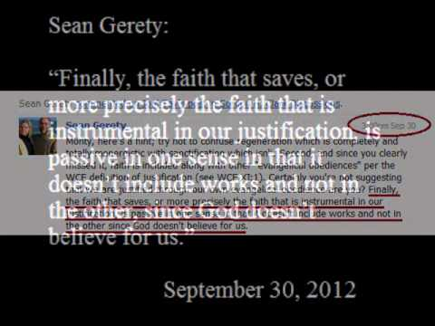 Sean Gerety rejects Calvin's teaching that faith is merely passive in justification.