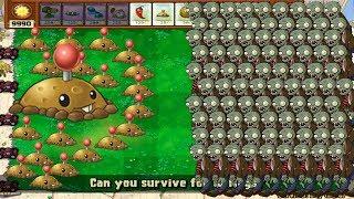 Plants vs Zombies hack - Potato Mine vs all Zombies