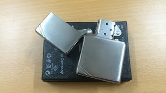 Unboxing zippo vintage with slashes bushed chrome 230