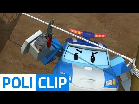 Let's get rid of obstacles before rescue! | Robocar Poli Rescue Clips