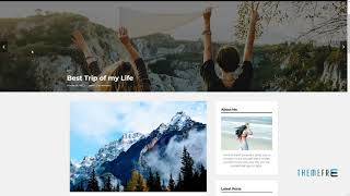 Destination Travel WordPress Blog Theme      Zed Kevyn