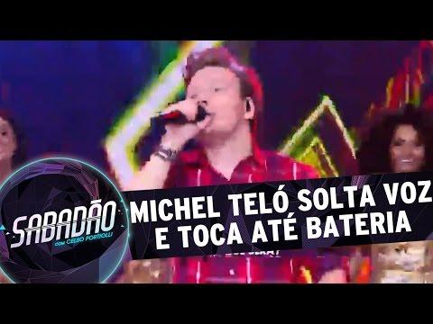 Sabadão Com Celso Portiolli (16/04/16) - Michel Teló Solta Voz E Toca Até Bateria No Palco