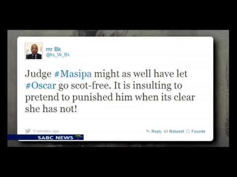 Social media reaction on Oscar Pistorius sentencing