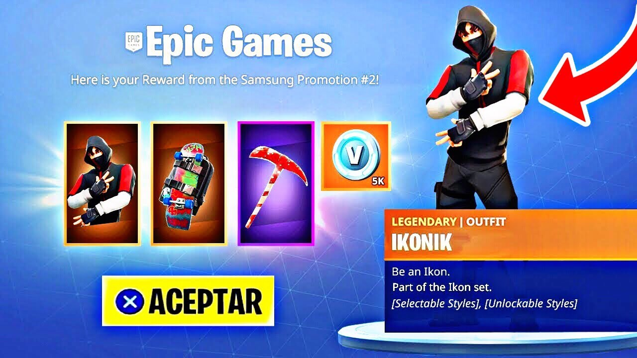 Como Conseguir La Skin Ikonik Gratis En Fortnite Como Tener Pavos Gratis En Fortnite Ps4 Pc Youtube