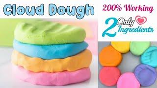 Super Soft Cloud Dough Recipe  How to make Play Dough at Home  How to make Air Dry Clay at Home