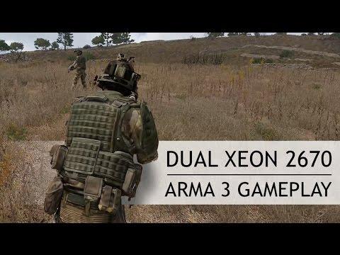 Dual Xeon 2670 ARMA 3 Gameplay. CPU Utilization - YouTube