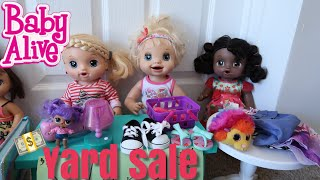 BABY ALIVES Have A Yard Sale To Raise Money