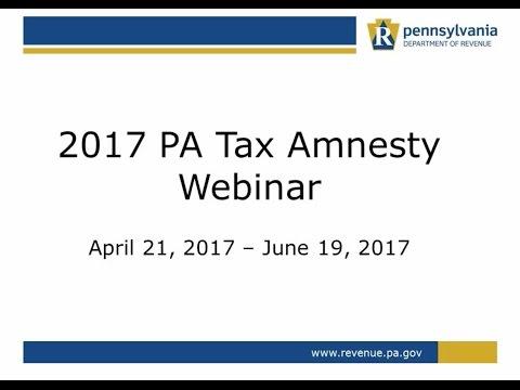 2017 PA Tax Amnesty Webinar