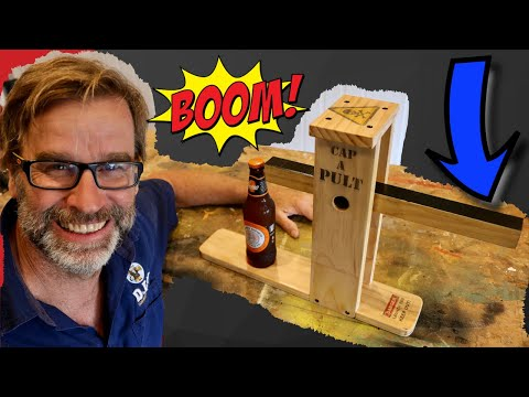CRAZY Scrap Wood Project!. Bottle Opener…Catapult Style!!