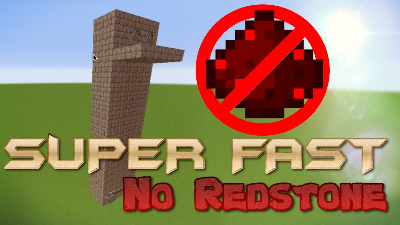 Building Built With No Elevator : How to build an elevator in minecraft no redstone sup