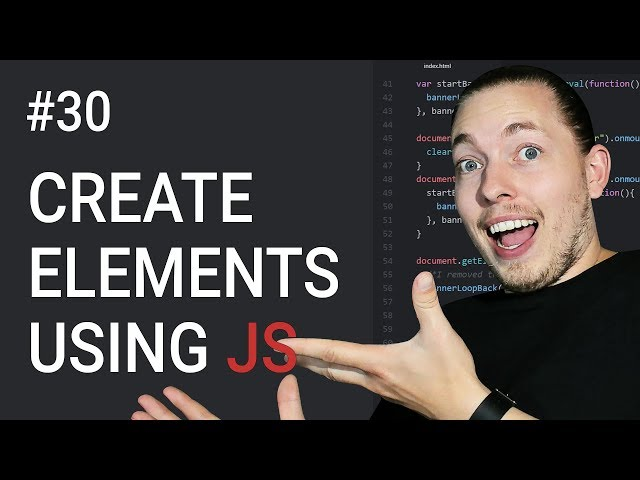 30: Create New Content Using JavaScript | Document Object Model Tutorial | JavaScript Tutorial