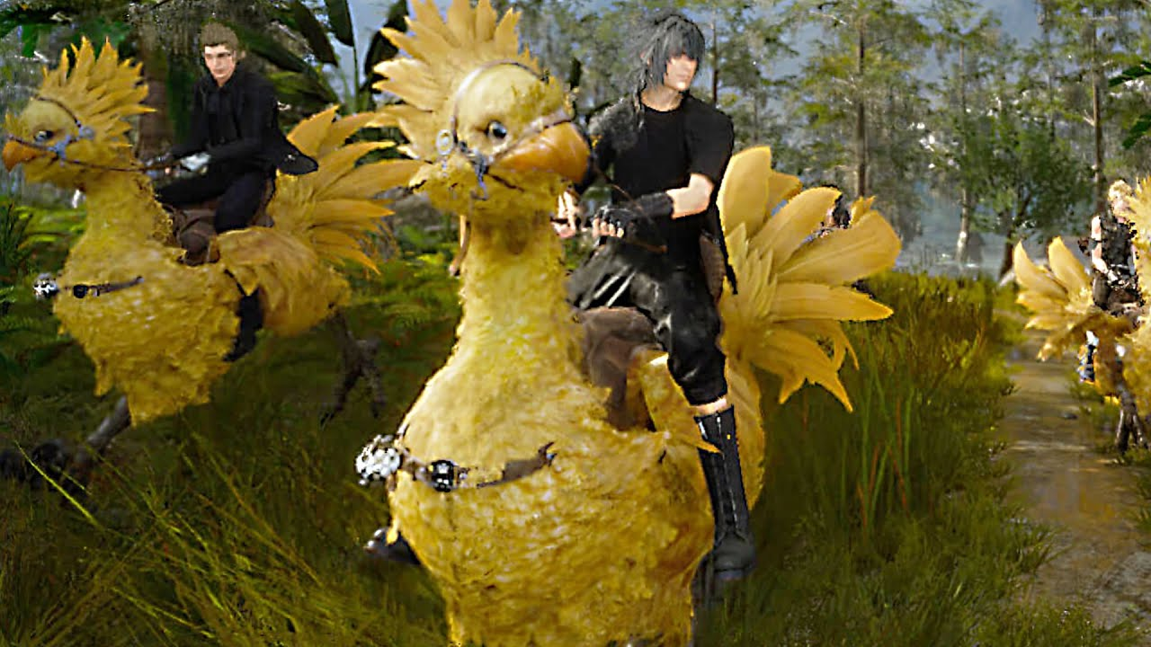 Final fantasy 15 chocobo riding and fishing gameplay for Final fantasy 15 fishing guide