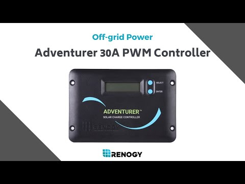 learn renogy solar renogy adventurer 30a pwm flush mount charge controller