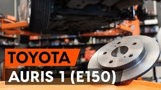 How to change Brake pad set disc brake AURIS (NRE15_, ZZE15_, ADE15_, ZRE15_, NDE15_) - step-by-step video manual