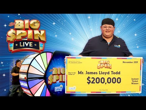James Todd Wins $200,000 Playing the BIG SPIN