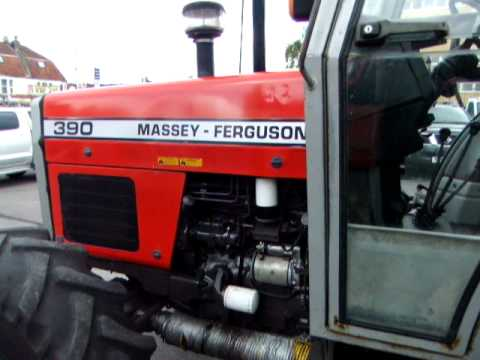 Massey Ferguson 390 4wd tractor  YouTube