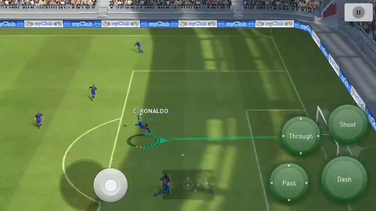 Learn all skills in pes mobile classic control