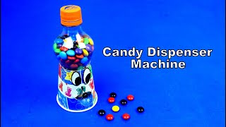 How to make Gumball Candy Dispenser Machine from PLASTIC BOTTLE DIY Mini Candy Machine at Home